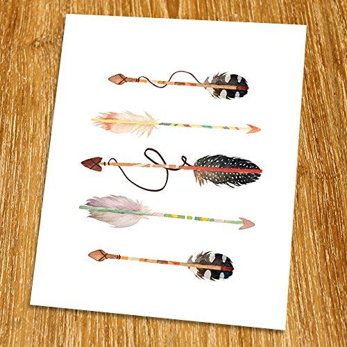 Arrow Print (Unframed), Watercolor Arrow, Nursery Wall Art, Tribal Art, Living Room Decor, Boho Print, 8x10