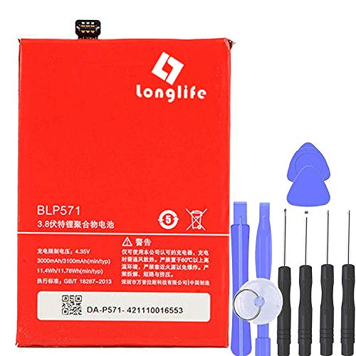 LONGLIFE New 3100mAh BLP571 Battery for ONEPLUS ONE Plus 1+ A0001 US + Free Tool Kit