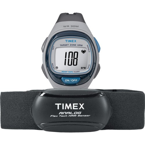 Timex Personal Trainer Heart Rate Monitor Gray/Blue, One Size - Personal Trainer Heart Rate Monitor