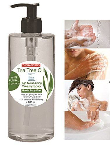 Tea Tree Therapeutic Soap - ANTI FUNGAL ANTI MICROBIAL Face Body Feet Hand...