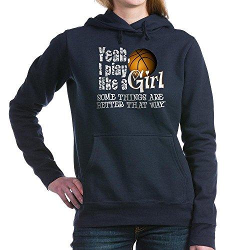 CafePress - Play Like a Girl - Basketball Hooded Sweatshirt - Pullover Hoodie, Classic & Comfortable Hooded Sweatshirt Navy