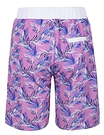 Men's Swim Trunks Printed Quick Dry Drawsting with 3 Pockets