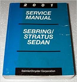 2001 chrysler sebring owners manual