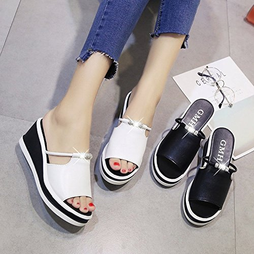 Slope Bottom Soft Casual Decoration and XKNSLX Casual White Lady's New Slippers x7wfA