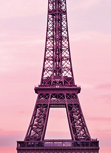 (Ideal Décor WG5028-2P-1 Eiffel Tower At Sunset Wall Mural, Pink)