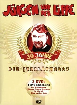 Jürgen von der Lippe - Die Jubliäumsbox (3 DVDs) Jürgen von der Lippe (Darsteller)  Alterseinstufung: Freigegeben ohne Altersbeschränkung  Format: DVD4.9 von 5 Sternen  Alle Rezensionen anzeigen 24 Kundenrezensionen Preis:EUR 25,64 Kostenlose Lieferung.
