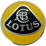 Lotus Large Yellow and Black on Highly Polished Silver Aluminum Emblem Logo Badge Crest Shield for Hood Trunk Fender New Rare