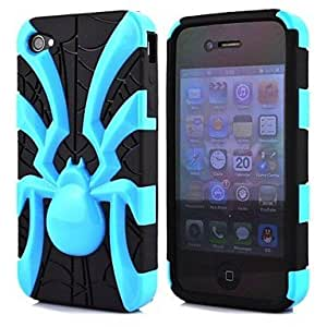 LCJ 2 in 1 Spider Robot Style PC and TPU Composite Case for iPhone 4/4S(Assorted Colors) , White
