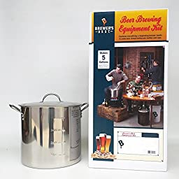 Brewer\'s Best Equipment Kit with 20 Qt Stainless Steel Brew Kettle