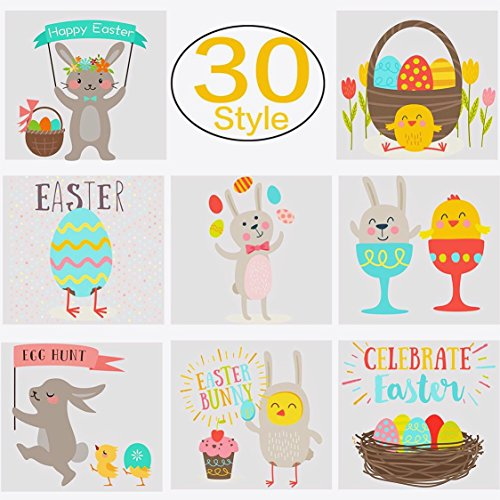 120pcs Easter Tattoos Temporary Easter Bunny Rabbit Tattoos for Easter Eggs (Easter Rabbit Eggs)