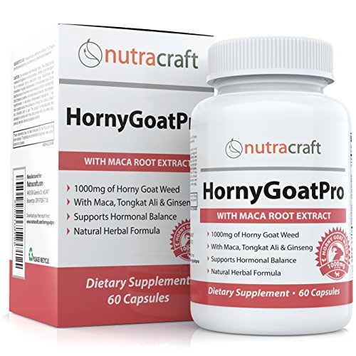 Extracto de Horny Goat Weed con raíz de Maca y Tongkat Ali por un impulso Natural de la Libido en hombres y mujeres - suplemento afrodisíaco mejora - Icariin 10mg - Made in USA - 60 cápsulas