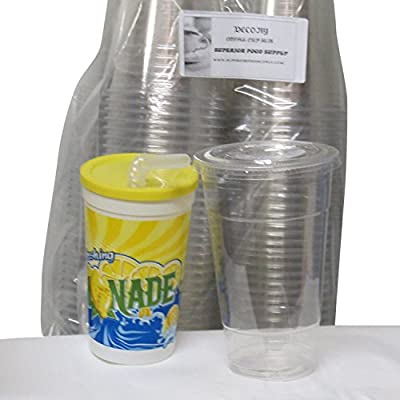 12 oz. Clear Cups with lids