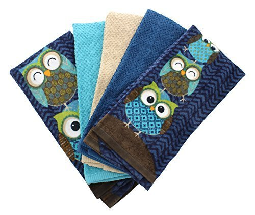 Mainstays Owl 5-Piece Kitchen Towel Set