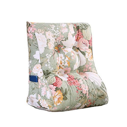 MS Pillow Triangle Bed Backrest Sofa Cushion Soft Cushions On The Bed Office Lumbar Pillow Neck Guard Protection Waist Washable Flower Pattern Multiple by MS