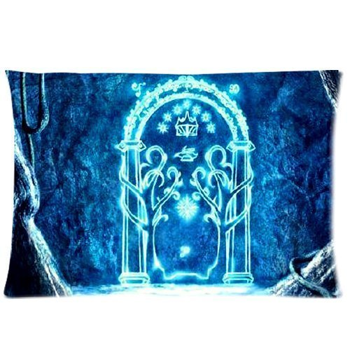 Fashion Funny The Lord of the Rings Custom Zippered Pillowcase Pillow Cases Cover 20x30 (Twin sides) Standard Size Game Door Gateway