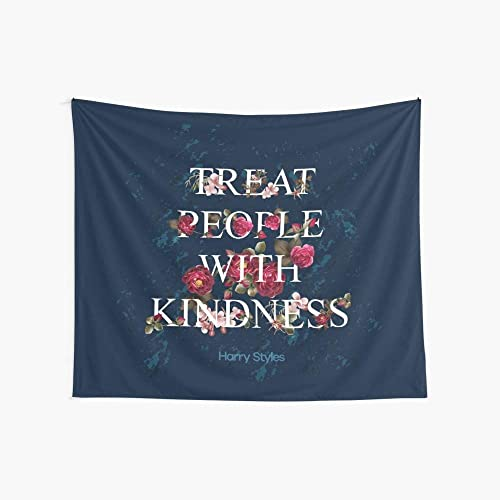 CuYatry Treat People with Kindness – Harry Styles Boutique Tapestry Wall Hanging Tapestry Vintage Tapestry Wall Tapestry Micro Fiber Peach Home Decor 59.1X51.2 in
