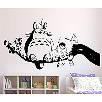 Tatouage mural Mon voisin Totoro Vinyle noir M Streetwall