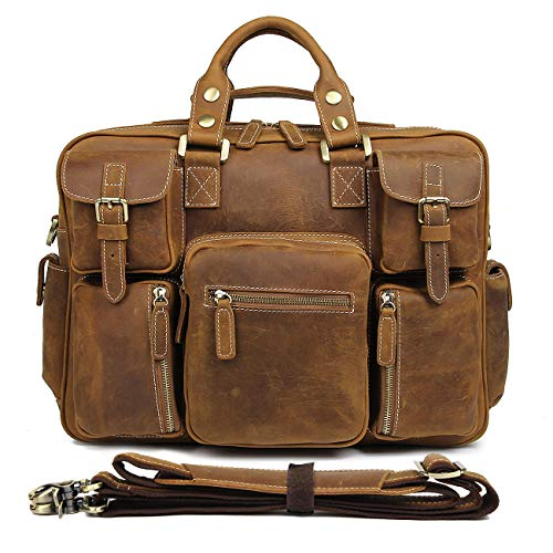 Texbo Vintage Full Grain Cowhide Leather 15 6 Inch Laptop
