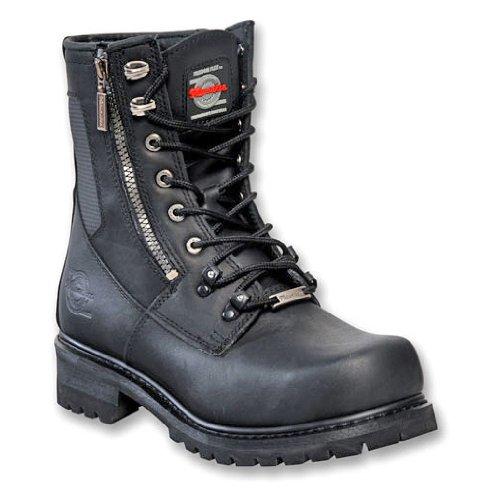 a6d84b4b387c0 Men's Milwaukee Trooper Zip Logger Boots Black, BLACK, 8.5M ...