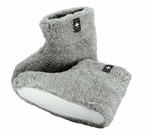 Natural Line - Zapatillas de estar por casa de Lana para hombre Gris - gris