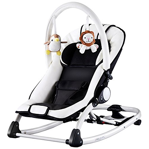 - LZTET Bouncers Reclining Chairs Soothing Vibration Rocking Chair Crib Rocking Chair Baby Comfort Recliner Shaker Sleepy Portable Children Music Cradle Bed,Musicincreaseversion