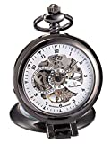 KS-KSP064, Men's Half Hunter Hand Wind Mechanical Pocket Watch