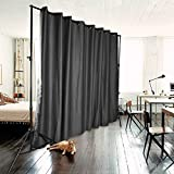 Xmas PROMO ONXO Room Divider Curtain Total Privacy Office Divider Multifunctional Curtain - Stands Not Included(H9'xL15', Dark Grey)