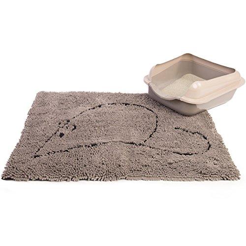 (Dog Gone Smart Cat Litter Mat, 35-In by 26-In, Grey)