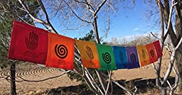 Spiral Hand Prayer Flag. All Proceeds to Families in Mexico. Free domestic shipping.