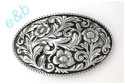Brand:e&b Chased Engraved Enameled Western Style Scene Belt Buckle Wt-097bk