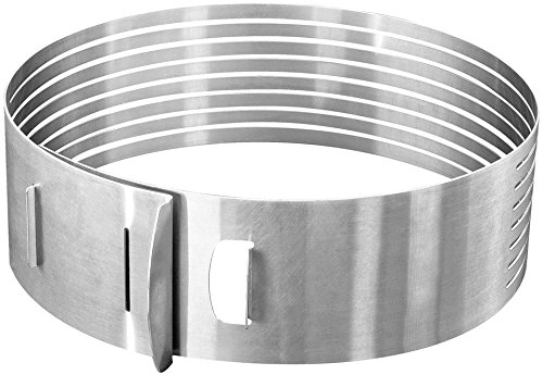Zenker Stainless Steel Layer Cake Slicing Kit with 12'' Serrated Knife, 3-Piece by Zenker (Image #1)