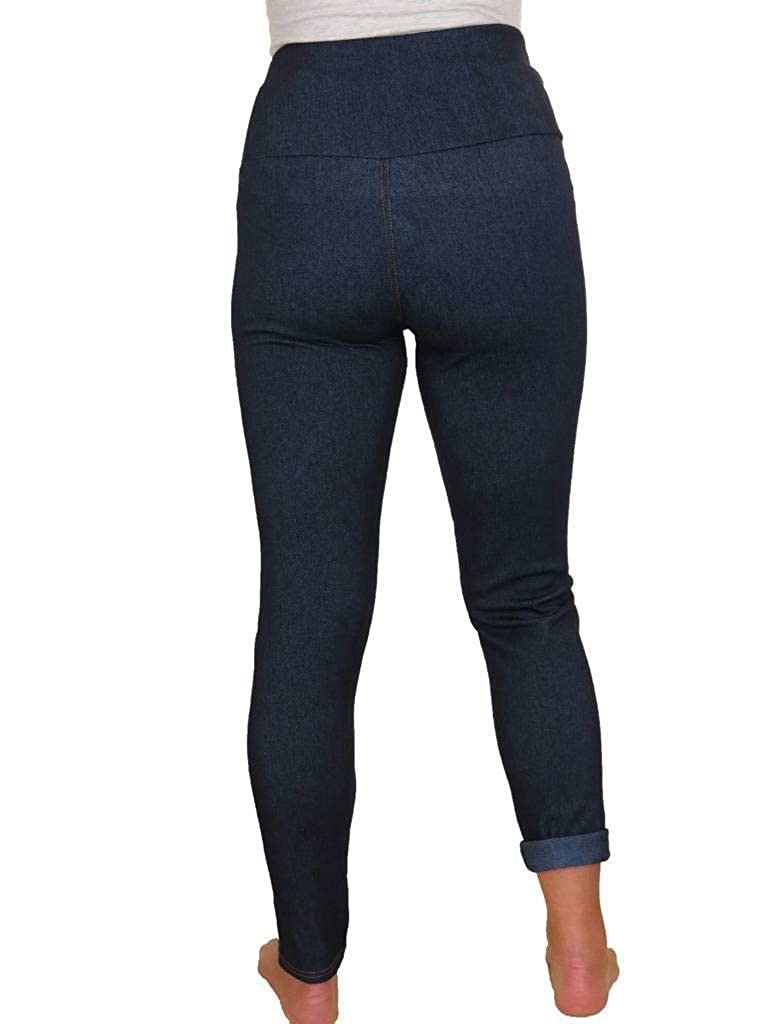 Womens Jeggings Relax Fit Jeans Style with Pockets High Waist 12-24
