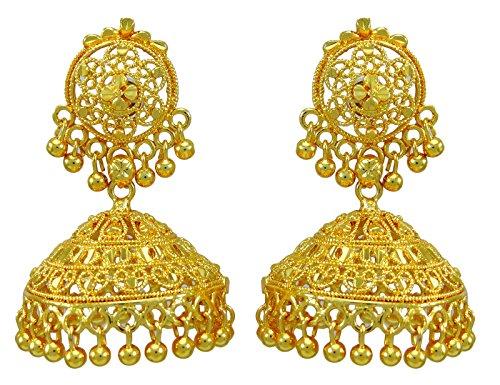 Banithani Goldplated Bollywood Women Jhumka Earring Traditional Ethnic Jewelry from Banithani