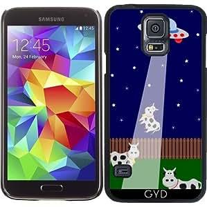 Funda para Samsung Galaxy S5 (SM-G900) - Secuestro Ovni Con La Vaca by zorg