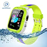 Kids Smartwatch Waterproof with LBS/GPS Tracker Smart Watch phone 3-12 SOS Camera for Boys Girls Christmas Gifts Game Watches.
