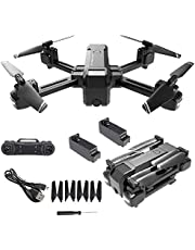 HS107 HScopter Drone With 4K Camera Foldable WiFi FPV Optical Flow Dual Camera Gesture Control 16 Minutes Fly RC Quadcopter