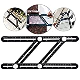 ZooArts Ultimate Irregular Shape Copy Tool - Universal Angularizer Ruler - Ruler-Multi Angle Measuring Tool (Black)