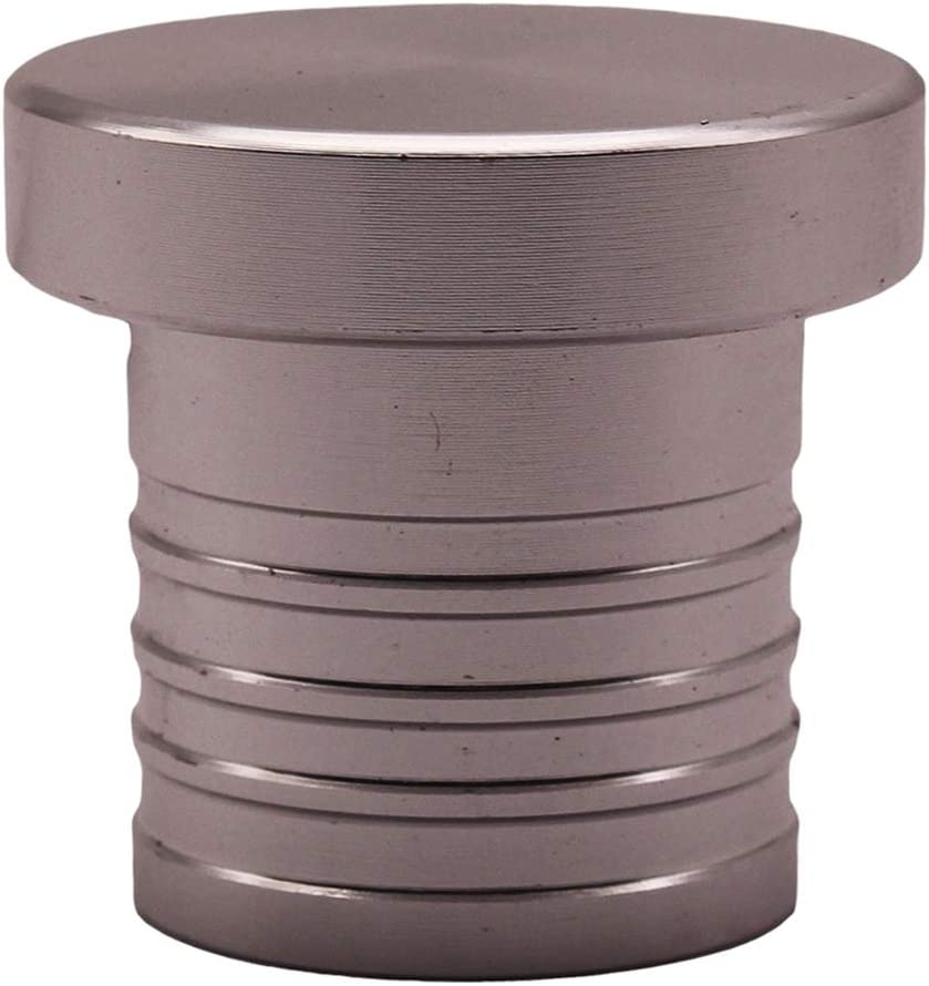 Gazechimp CNC Billet Aluminium 25mm 1Schlauchstopfen Blindstopfen BOV Flansch Adapter