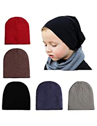 Wellwear Baby Boy's Knit Beanie Hats Soft Cute Skull Caps for Infant Toddlers Kids