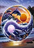TianMai Hot New DIY 5D Diamond Painting Kits Full Drill Diamond Embroidery Painting Pasted Paint By Number Kit Stitch Craft Kit Home Decor Wall Sticker - Dolphin Night, 30x40cm