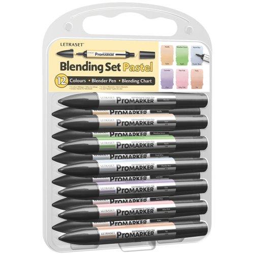 Letraset Pro Marker Blending Set, Pastel, 12-Pack by Letraset