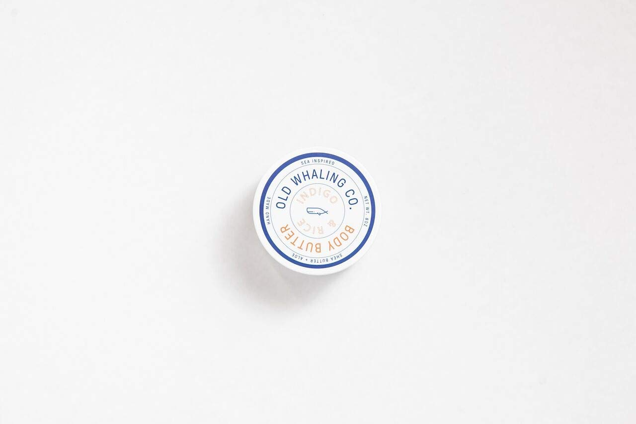 ONE Indigo + Rice Body Butter    handmade lotion/shea butter/aloe vera/paraben and mineral oil free/moisturizer for men/Masculine