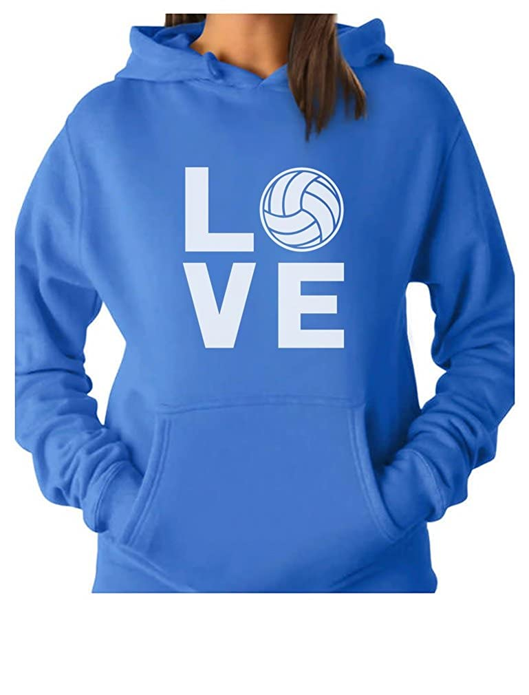 TeeStars - Love Volleyball - Gift Idea for Volleyball Fans Women Hoodie GM0ha3gK