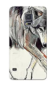 Christmas Gift - Tpu Case Cover For Galaxy note4 Strong Protect Case - Wolf Design