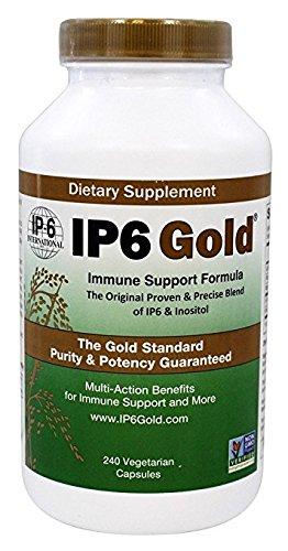 IP-6 International IP6 Gold Immune Support Formula 240 Vegetarian Capsules