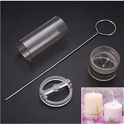 Molde para velas de acrílico transparente para hacer velas, hecho a mano, cilíndrico,