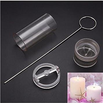 Molde para velas de acrílico transparente para hacer velas, hecho a mano, cilíndrico, 4 x 10 cm: Amazon.es: Juguetes y juegos