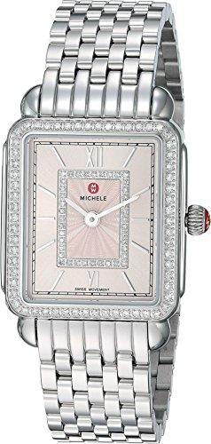 MICHELE Women's Swiss-Quartz Watch with Stainless-Steel Strap, Silver, 16 (Model: MWW06i000031)