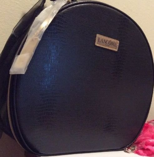 luxury-waterproof-cosmetic-train-case-in-royal-black-faux-leather-new