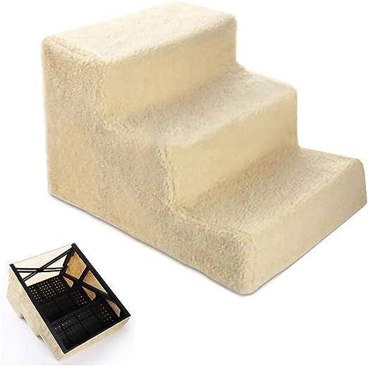 Escalera de Mascota Escaleras for Perros de 3 Pasos con Marco de plástico, Gatos pequeños/Perros Escalera de escaleras for Mascotas, Peso Ligero/portátil, Cubierta Lavable a máquina: Amazon.es: Hogar